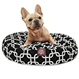 Black Links Small Round Indoor Outdoor Pet Dog Bed With Removable Washable Cover By Majestic Pet Products For Sale