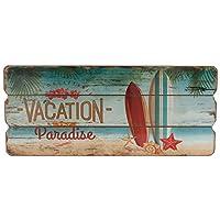 Wand-Dekoration Holz-Schild Paradise Türschild MDF Trip Dekoschild Strand...