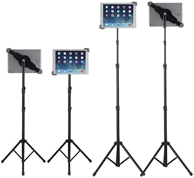 Tablet Tripod Stand iPad Pro 9.7//10.5 and More 9.5-14.5 Inch Tablets 360/° Rotating Tablet Stand Holder /& Height Adjustable Tablet Tripod Mount Applicable for iPad Air