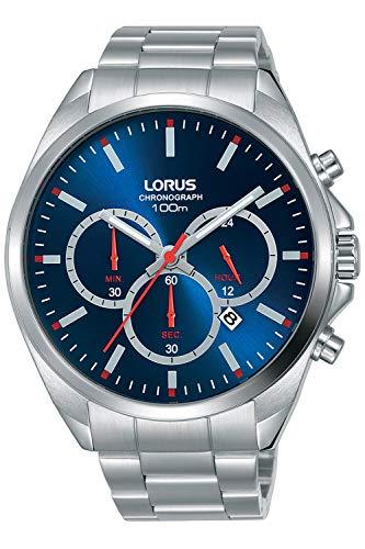 Sports Mens Analog Quartz Watch with Stainless Steel Bracelet - Lorus RT363GX9