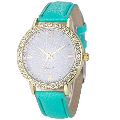 - Ninasill Fashion Women Diamond Watch (Green)