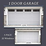 skysen Magnetic Faux Garage Door Decoration Windows