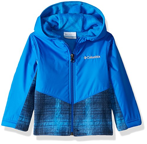 Price comparison product image Columbia Kids & Baby Toddler Steens Mt Overlay Hoodie, Super Blue Twill Plaid, 4T