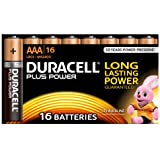 Duracell MN2400 Plus Power Alkaline AAA Size Batteries, 16 Batteries