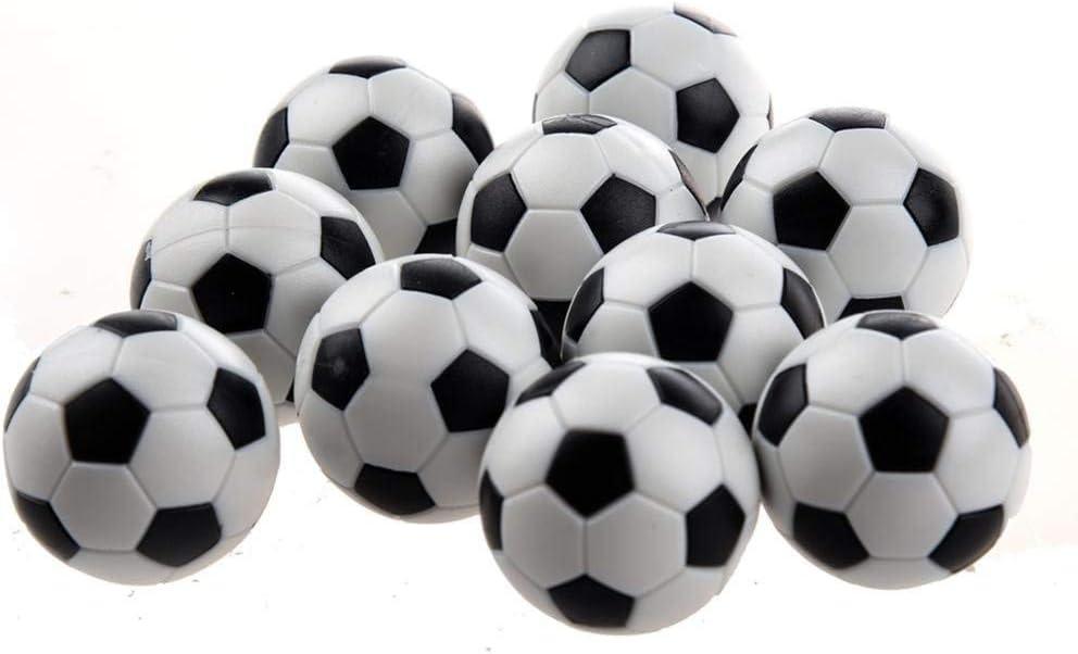 Ogquaton 6 ballons de baby-foot en plastique noir et blanc rempla/çants de baby-foot de table de 6 PCs tr/ès pratiques et populaires