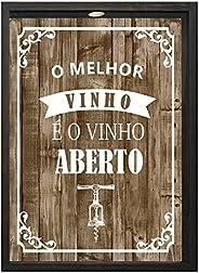 Quadro Porta Rolhas Kapos Multicor 32X42cm