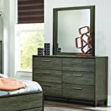Homelegance Vestavia 6 Drawer Dresser & Mirror in Grey - (Dresser Only)