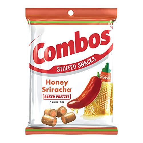 Combos Sriracha Pretzel Baked Snacks, Honey, 6.3 Ounce (Pack of 12)