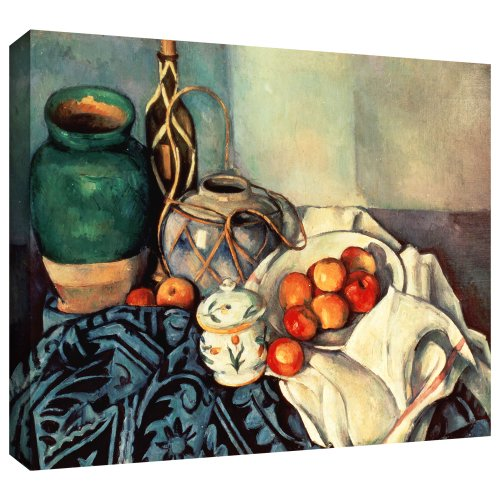 ArtWall 'Still Life with Apples II' Gallery-Wrapped Canvas Artwork by Paul Cezanne, 36 by 48-Inch (Cezanne Still Life Apples)