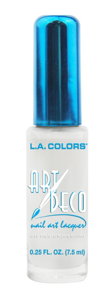Amazon la colors art deco nail art 903 silver glitter la colors art deco nail art 901 white prinsesfo Gallery