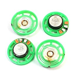4 Pcs 16 Ohm 0.25W 29mm Round External Magnetic Electronic Toy Speaker
