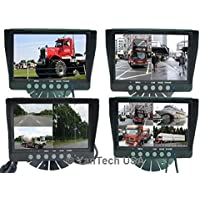 9 Inch QUAD Color TFT LCD Rearview Monitor Screen for Car / Automobile Backup Camera with Digital High Resolusion. by YanTech USA