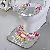 UHOO2018 Bathroom Non-Slip Rug Set College footbteam Vector Art Personalized Durable