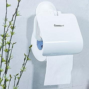 ppol cuarto de baño baño bastidores Papel Toalla Caja Sucker Papel toallero: Amazon.es: Hogar