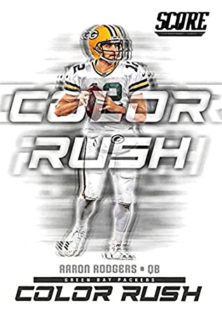 info for e214e 07a16 Amazon.com: 2018 Score Color Rush #5 Aaron Rodgers Green Bay ...
