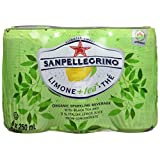 San Pellegrino Sparkling Lemon +Tea Cans, 250ml, 24 Count