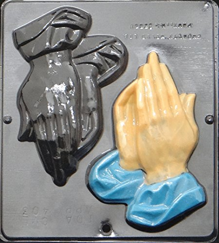 Praying Hands Chocolate Candy Mold Religious 403 - Candy Religious Molds