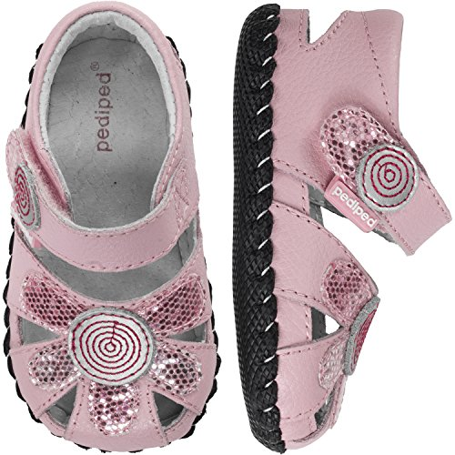 pediped Daisy Originals Dress Sandal (Infant/Toddler),Aster Pink,X-Small (0-6 (Aster Daisy)