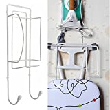 Door or Wall Mounted Iron and Ironing Board Holder Polished Chrome Finish Hanger