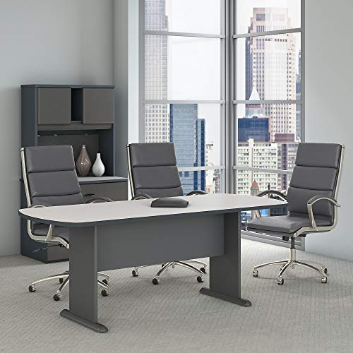 Bush Business Furniture Series A & C 79W x 34D Racetrack Oval Conference Table in Slate by Bush Business Furniture (Image #2)