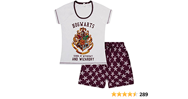 Harry Potter - Pijama corto para mujer Hogwarts Harry Potter
