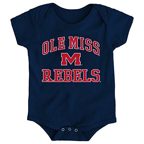 - Gen 2 NCAA Mississippi Old Miss Rebels Newborn & Infant Primary Logo Bodysuit, 0-3 Months, Dark Navy