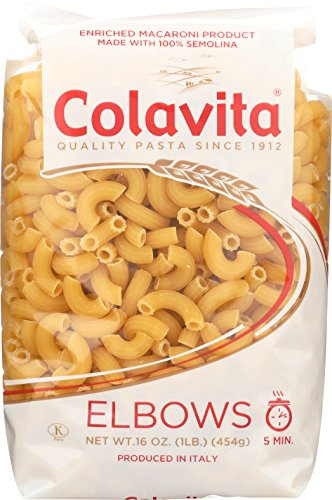 Colavita Pasta, Elbows, 16 Ounce (Pack of 20)