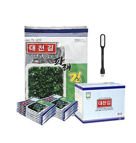 Korean Roasted Seaweed Snack Strips, Lightly Salted and Seasoned Nori [100% All Natural] (Pack of 10) - Original Flavor (Seaweed Tea)