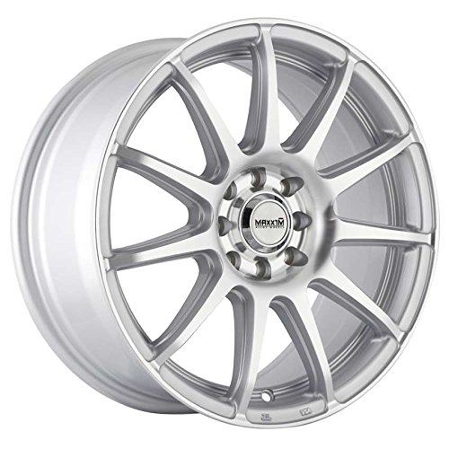 Maxxim WINNER Silver Wheel with Painted Finish (16 x 7. inches /5 x 105 mm, 40 mm Offset)