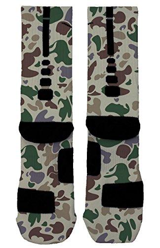 Camo - Custom Designed Nike Elite Socks (Large, Dynamite Camo) (Kobe Grape compare prices)