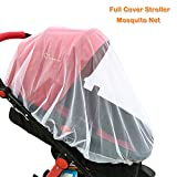 Mosquito Net for Baby Strollers Car Seats by Kiddos - White Insect Bug Netting for Carriers, Cradles, Bassinets, Cribs. Made Durable Mesh Fits Most Infant Stroller 1 Pack Portable Universal Protection