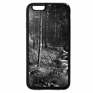 iPhone 6S Plus Case, iPhone 6 Plus Case (Black & White) - wonderful stream in forest