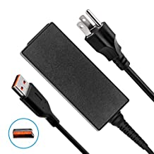 Lenovo Yoga AC Power Adapter Replacement, 40W 20V 2A Power Supply for Lenovo Yoga 3 Pro 1370; Yoga 3 11 14, 1170 1470; Yoga 11 14; Yoga 900 13, 900-13ISK; IdeaPad Miix 700-12ISK with 8.2Ft Long Cord (20V 2A 13x4mm)