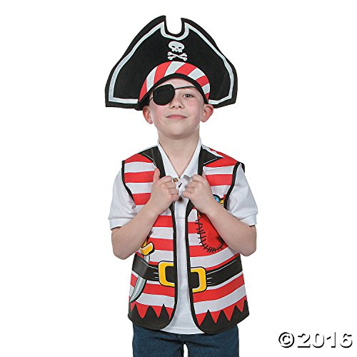 Cool Fun 13660696 Child Pirate Costume - Costume Kit Pirate