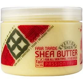 Alaffia - Everyday Shea - Pure Fair Trade Shea Butter, 11 Ounces 9 100% FAIR TRADE: Feel good about how you are getting your products with 100% Certified Fair Trade Ingredients. PURE AND SIMPLE: Made from pure African unrefined shea butter. PROTECT WITH FAIR TRADE INGREDIENTS: Deeply moisturizing & protective fatty acids, vitamins, and minerals, leave skin soft & smooth.