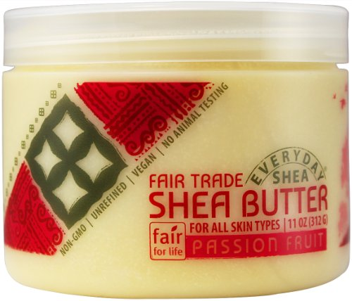 Alaffia - Everyday Shea - Pure Fair Trade Shea Butter, 11 Ounces 1 100% FAIR TRADE: Feel good about how you are getting your products with 100% Certified Fair Trade Ingredients. PURE AND SIMPLE: Made from pure African unrefined shea butter. PROTECT WITH FAIR TRADE INGREDIENTS: Deeply moisturizing & protective fatty acids, vitamins, and minerals, leave skin soft & smooth.