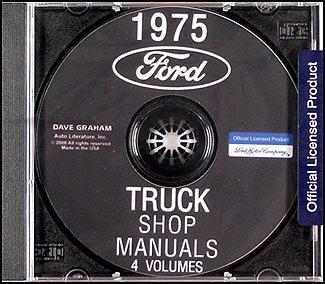 (1975 Ford Truck Repair Shop Manual CD ROM for Pickup, Bronco, Van, big truck)