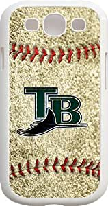 Alia's Shop - MLB Team Logo, Tampa Bay Rays Logo Samsung GALAXY S3 Cases (White) - Tampa Bay Rays 3