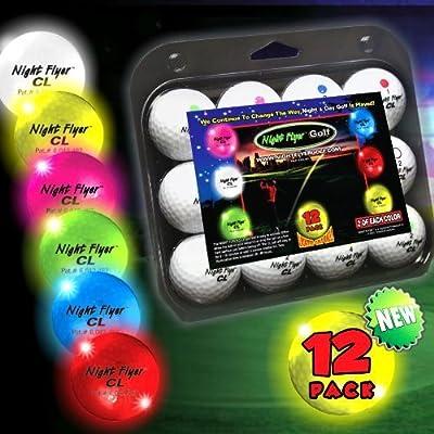 Night Flyer Lighted Golf Balls - 12 Ball Variety Pack