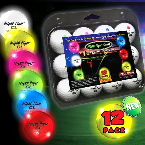 Night Flyer Lighted Golf Balls - 12 Ball Variety (Night Flyer Golf Ball)
