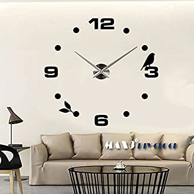 Vakind Hot Creative Digital DIY Adhesive Room Numbers Modern Wall Clock House Decoration