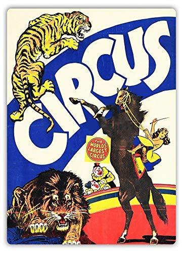 qidushop Cartel de Circo V1 Placa de Arte Tiger Cheetah ...
