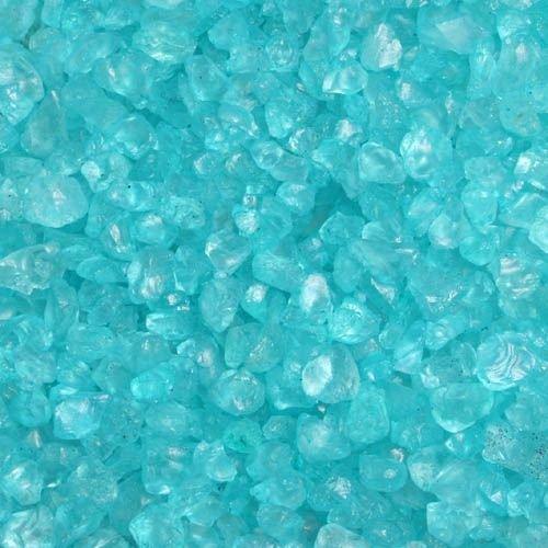 Glas-Steine / Glas-Granulat (4-10 mm), 1 kg, türkis türkis Glas-Dekogranulate