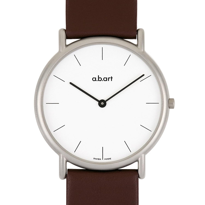a.b.art Herren-Armbanduhr KL101 Analog Quarz Leder braun KL101