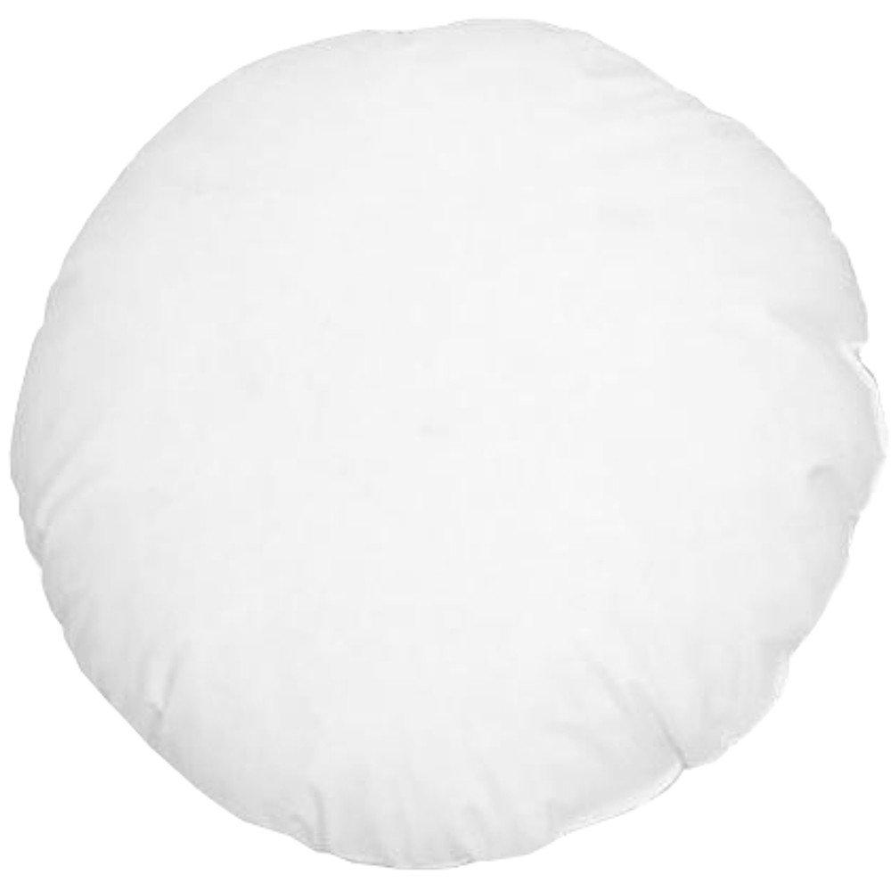 Stuffer Throw Pillow Insert Sham Form Polyester Round Circular White 14 Inch Diameter BT Fine Linen