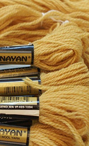 Paternayan Needlepoint 3-ply Wool Yarn-Color -734-Honey Gold-2 MINI 8-YD SKEINS WITH THIS LISTING 2 Ply Gold Yarn