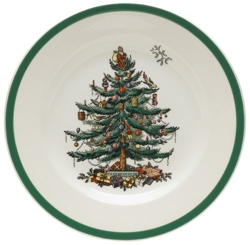 (Spode Christmas Tree Salad Plates, Set of 4)