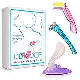 DD&DEE@ Bikini Venus Razor Shaving Stencil Sexy for Sensitive Area Women Hair Handle Trimmer(x2 Razor) (Colors May Vary)