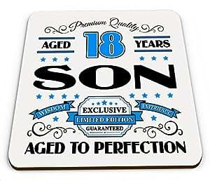 Premium calidad de 18años hijo novedad brillante taza posavasos–azul
