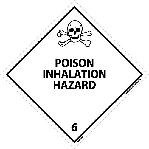 DL125AP National Marker Dot Shipping Labels, Poison Inhalation Hazard 6, 4 Inches x 4 Inches, Ps Vinyl, 25/pk (Pack of 25)